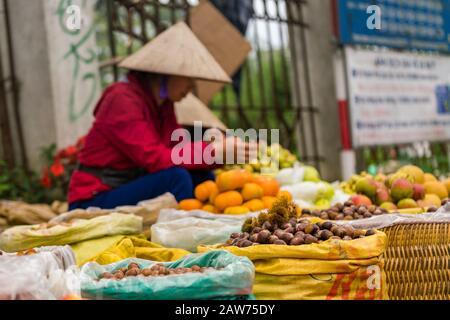 Local fruit market in Sapa