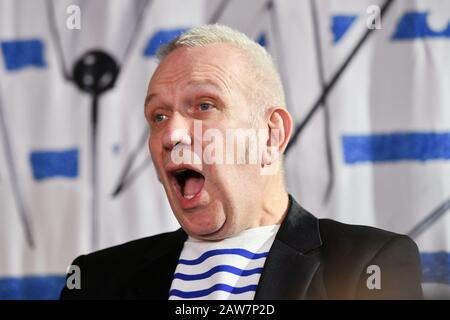 Moscow, Russia - 7th Feb, 2020: French fashion designer Jean Paul Gaultier during a press conference before his 'Fashion Freak Show' at Moscow Palace