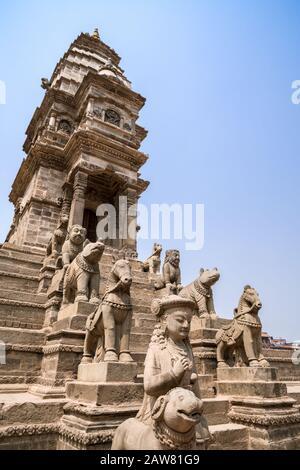 Siddhi Lakshmi Temple at Durbar Square of Bhaktapur, Kathmandu valley, Nepal - Stock Photo