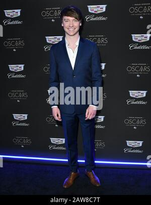 Los Angeles, California, USA. 06th Feb, 2020. 06 February 2020 - Los Angeles - Calum Worthy. Cadillac Celebrates The 92nd Annual Academy Awards held at Chateau Marmont. Photo Credit: Birdie Thompson/AdMedia /MediaPunch Credit: MediaPunch Inc/Alamy Live News - Stock Photo