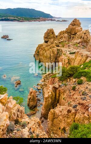 Costa Paradiso, rocky landscape - Island Sardinia, Italy - Stock Photo