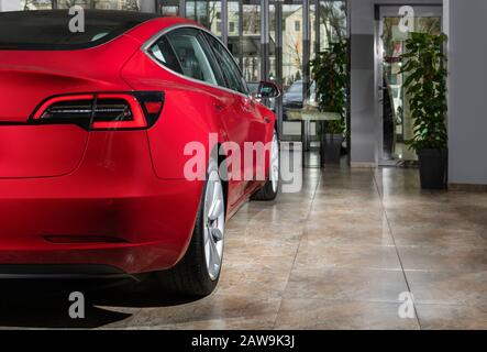 Tesla Model S electric car showroom in Yorkdale mall ...