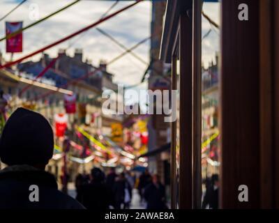 Korzo mailn street in Rijeka Croatia Europe before Carnival - Stock Photo