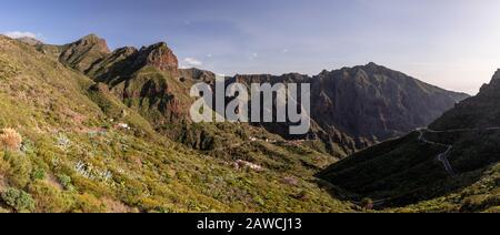 Volcanic landscape around Santiago del Teide, Tenerife, Canary Islands - Stock Photo