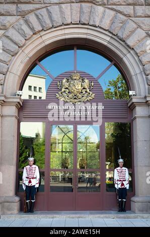 Guard post at the President's residence, Sofia, Sofia Province, Bulgaria - Stock Photo