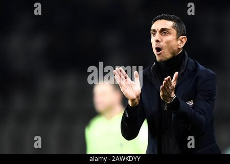 Turin, Italy - 08 February, 2020: Moreno Longo, head coach of Torino FC,  reacts during the Serie A football match between Torino FC and UC Sampdoria. Credit: Nicolò Campo/Alamy Live News - Stock Photo