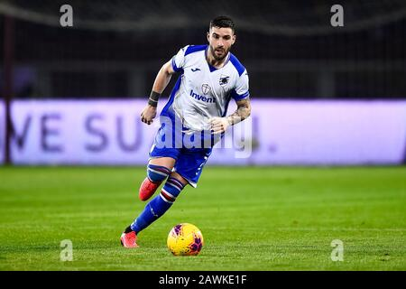 Turin, Italy - 08 February, 2020: Nicola Murru of UC Sampdoria in action during the Serie A football match between Torino FC and UC Sampdoria. UC Sampdoria won 3-1 over Torino FC. Credit: Nicolò Campo/Alamy Live News - Stock Photo