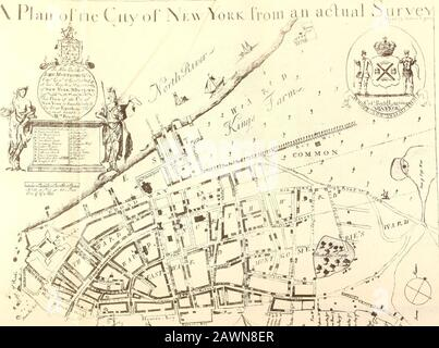 James Lyne's survey, or, as it is more commonly known, The Bradford map; . ^C.^ FACSIMILE OF THE BRADFORD MAPONE-HALF THE SIZE OF THE ORIGINAL JAMES LYNES SURVEY OR, AS IT IS MORE COMMONLYKNOWN THE BRADFORD MAP A PLAN OF THE CITY OF NEW YORK AT THE TIME OF THE GRANTING OF THE MONTGOMERY CHARTER IN 173 I AN APPENDIX TO AN ACCOUNT OF THE SAMECOMPILED IN 1893 BY William Loring Andrews ^CIVITATll ::> ^^^&^^ ifi J IW^OT Z 0 0 m^Ml. < x 18 inches to 11x6. THE BRADFORD MAP A Pi an o£the City of New York fro m^n ..actual ^^urvoYjameslynessurvey00andr