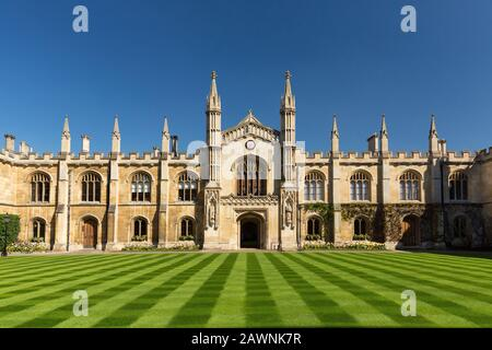 Corpus Christi College in Cambridge, UK - Stock Photo