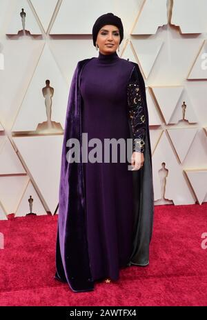 Los Angeles, United States. 10th Feb, 2020. Fatma Al Remaihi arrives for the 92nd annual Academy Awards at the Dolby Theatre in the Hollywood section of Los Angeles on Sunday, February 9, 2020. Photo by Jim Ruymen/UPI Credit: UPI/Alamy Live News - Stock Photo