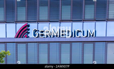 Municipal Germering, District Fürstenfeldbruck, Upper Bavaria, Germany: Lettering of Germedicum, Medical Center