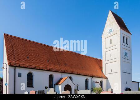 Municipal Germering, District Fürstenfeldbruck, Upper Bavaria, Germany: Catholic Church, Kirche St. Jakob