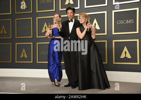 Los Angeles, USA. 09th Feb, 2020. Academy Awards - Press Room, Hollywood, California, USA. 9th Feb 2020. posing in the press room at the 92nd Annual Academy Awards held at the Dolby Theatre in Hollywood, California on Feb. 9, 2020. (Photo by Sthanlee B. Mirador/Sipa USA) Credit: Sipa USA/Alamy Live News - Stock Photo