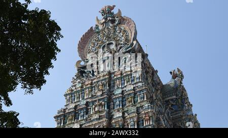 Meenakshi Amman Temple, Madurai, Tamil Nadu, India - Stock Photo