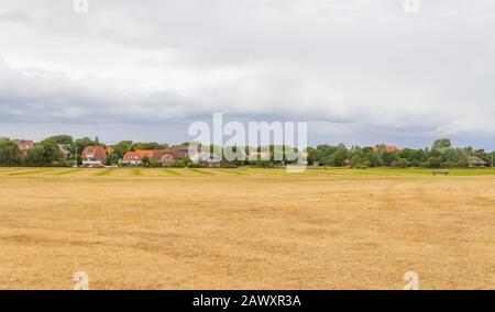 impression of Spiekeroog, one of the East Frisian Islands at the North Sea coast of Germany - Stock Photo
