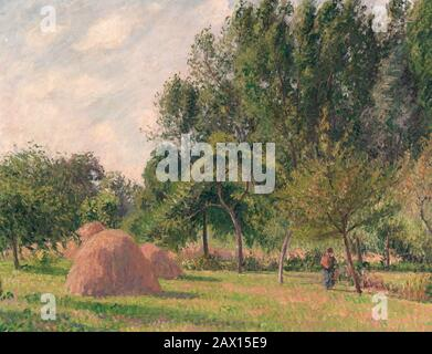 Haystacks, Morning, Éragny, 1899. - Stock Photo