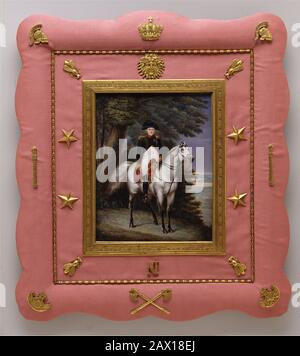 Napoléon I (1769-1821) on Horseback, 1830. - Stock Photo