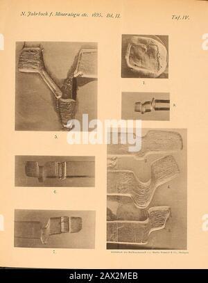 Neues Jahrbuch für Mineralogie, Geologie and Paläontologie . - Stock Photo