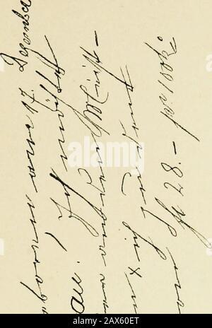 Die Schrift bei Geisteskrankheiten; eine Atlas mit 81 Handschriftproben . t Größenverhältnis 11 : 12. No. 2. Progressive Paralyse, a) Geschrieben am 23. Juni 1901.. ^4U V - Stock Photo