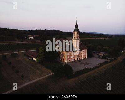 Birnau Abbey near Lake Constance in Baden-Wuerttemberg, Germany - Stock Photo