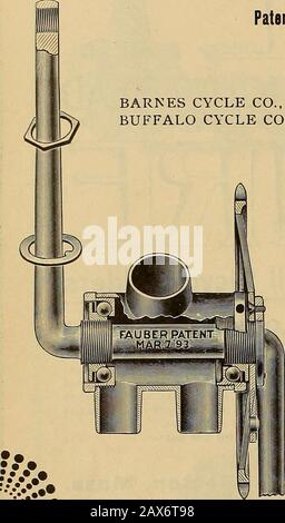 The Wheel and cycling trade review . tcexxjcc&ssssfis^^ «4 November 6, ••• ••:.•> THE FAUBER CRANK AXLE. Patents Are Pioneer, and Cover One-Piece Axles of Every Practical Construction. BARNES CYCLE CO.,BUFFALO CYCLE CO.,. LICENSED MANUFACTURERS: Syracuse, N. Y. GLOBE CYCLE CO., Buffalo, N. Y. ST. NICHOLAS MFG. CO WELLAND VALE MFG. CO., St. Catharines, Ont. Buffalo, N. Y.Chicago, 111. See Our 1897. BICYCLE AND TANDEM HANGERS. Over 18,000 sold for next year. Record for 96: Only THREE (3) Broken Cranks Replaced in 10,000. Crank axles broken in use replaced freeof charge on receipt of broken pa - Stock Photo