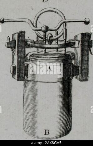 Essai de physique, par MrPierre van Musschenbroek ..avec une description de nouvelles sortes de machines pneumatiques, et un recueil d'expériences par MrJv[an] M[usschenbroek] Traduit du hollandois par MrPierre Massuet .. . Fw. 8.. E F - Stock Photo