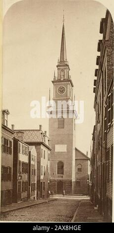 History of Paul Revere's signal lanterns, April 18, 1775, in the steeple of the North Church: with an account of the tablet on Christ Church and the monuments at Highland Park and Dorchester Heights . HISTOEY OF Paul lUmxts Signal Canterns APRIL 18, 1775, IN THE STEEPLE OF THE NORTH CHURCH: WITH AN ACCOUNT OF THE TABLET ON CHRIsT CHURCH AND THE MONUMENTS ATHIGHLAND PARK AND DORCHESTER HEIGHTS. •^ BY WILLIAM W. -WHEILDON. AVITII HELIOTTPE OF CHRIST CHURCH. CONCORD: / authors PRIVATE PRINTING OFFICE, 1878. 9^historyofpaulrev00whei - Stock Photo