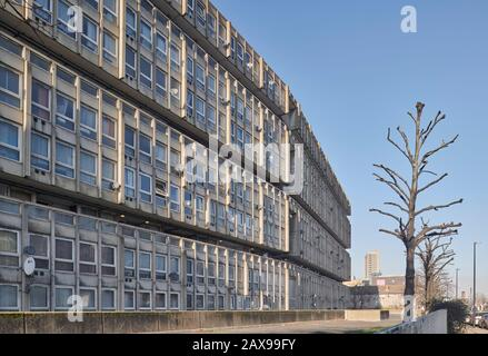 Robin Hood Gardens designed by Alison and Peter Smithson in Poplar, London