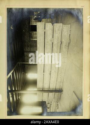 Tests on plain and reinforced concrete beams . - Stock Photo