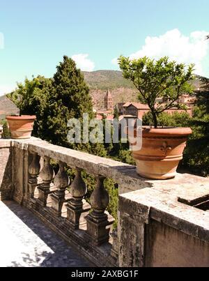 View from Villa d'Este, Tivoli, Italy - Stock Photo