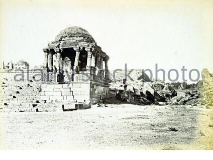 'Image taken from: Title: Architecture at Ahmedabad, the Capital of Goozerat, photographed by Colonel Biggs, ... With an historical and descriptive sketch, by T. C. H., ... and architectural notes by J. Fergusson, etc Author: HOPE, Theodore Cracraft - Sir, K.C.S.I Contributor: BIGGS, Thomas. Contributor: FERGUSSON, James - Architect Shelfmark: British Library HMNTS 10057.f.17., British Library OC V 6665 Page: 235 Place of Publishing: London Date of Publishing: 1866 Issuance: monographic Identifier: 001730119 Note: The colours, contrast and appearance of these illustrations are unlikely to be t - Stock Photo
