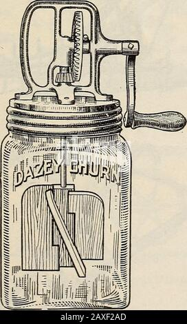 Mann's descriptive catalgoue : 1914 guide for the farm and garden . DOUBLE DASHER—THUMB SCREW LOCK DAZEY GLASS CHURN. - Stock Photo