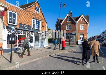 Tenterden high street, kent, uk - Stock Photo