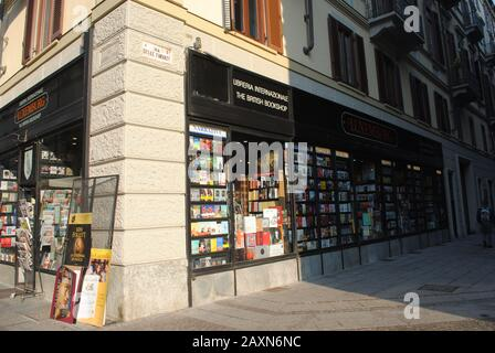 A bookshop in Turin - Stock Photo