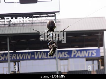 Arlington, Texas, USA. 9th Feb, 2020. Sky camera before the 1st half of the XFL game between St. Louis Battlehawks and the Dallas Renegades at Globe Life Park in Arlington, Texas. Matthew Lynch/CSM/Alamy Live News - Stock Photo