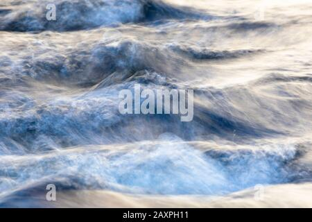 Wave, structure, Finland, brook - Stock Photo