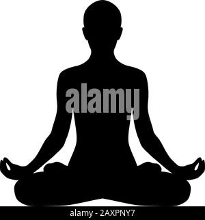 man yoga pose black and white stock vector image  art  alamy