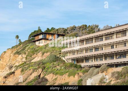 Buildings on the grounds of the Scripps Institute Of Oceanography. La Jolla, CA, USA.