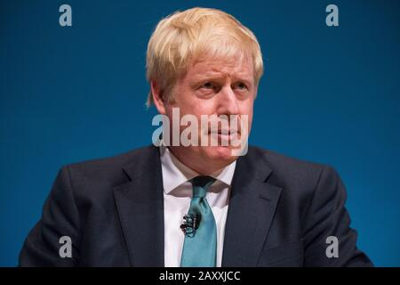 Perth, UK. 5 July 2019.  PICTURED: Boris Johnson MP Conservative leadership contenders Boris Johnson and Jeremy Hunt are to face Scottish party members at a hustings event in Perth.  The hustings in Perth is the latest in a series of events around the UK which see the two candidates make a speech to local members before taking questions from a host and the audience.  Party members should receive their ballots in the coming days, with the winner to be announced on 23 July. - Stock Photo