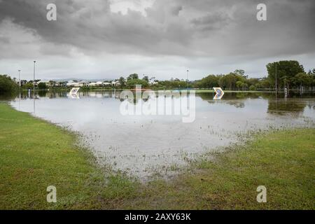 thunderstorms and heavy rain cause flooding on the Gold Coast, Queensland, Australia Stock Photo