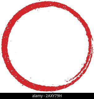 round stamp frame illustration - Stock Photo