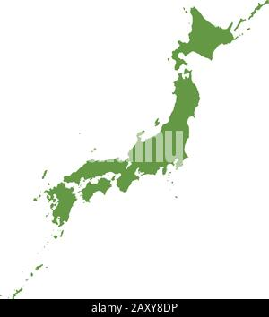 Japan map vector illustration - Stock Photo