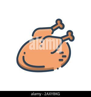 Illustration for Chicken - Stock Photo