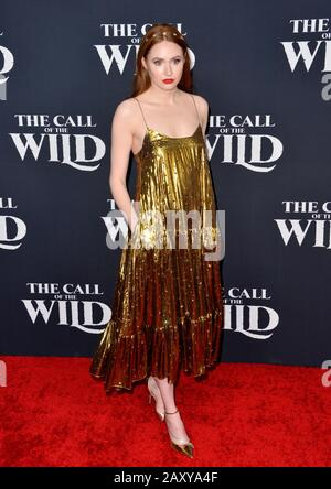 Los Angeles, USA. 13th Feb, 2020. LOS ANGELES, CA: 13, 2020: Karen Gillan at the world premiere of 'The Call of the Wild' at the El Capitan Theatre. Picture Credit: Paul Smith/Alamy Live News - Stock Photo
