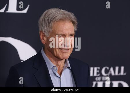 Los Angeles, USA. 13th Feb, 2020. Harrison Ford at 'The Call Of The Wild' World Premiere held at El Capitan Theatre in Los Angeles, CA, February 13, 2020. Photo Credit: Joseph Martinez/PictureLux Credit: PictureLux/The Hollywood Archive/Alamy Live News - Stock Photo