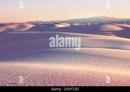 White Sands Dunes  in New Mexico, USA - Stock Photo
