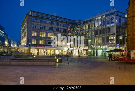 View of commercial buildings on the Zeil - Stock Photo