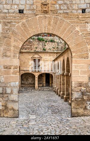 Castell d'Eivissa castle, Dalt Vila, Ibiza, Balearic Islands, Spain - Stock Photo