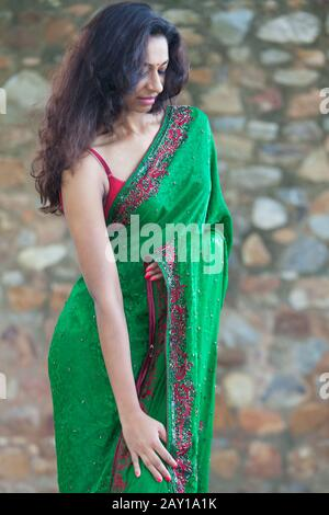 Young Indian woman in a Saree