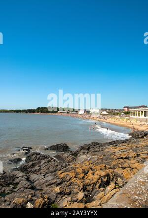 Summer beach at Barry Island, Wales UK - Stock Photo